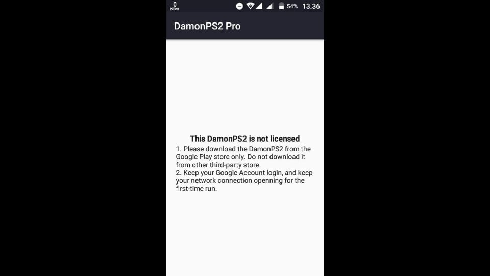 "Problem on DamonPS2 Pro: How To Fix ""The DamonPS2 is Not License"""