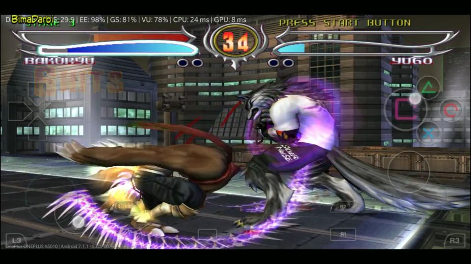 (PS2 Android) Bloody Roar 4 | DamonPS2 Pro Android #3