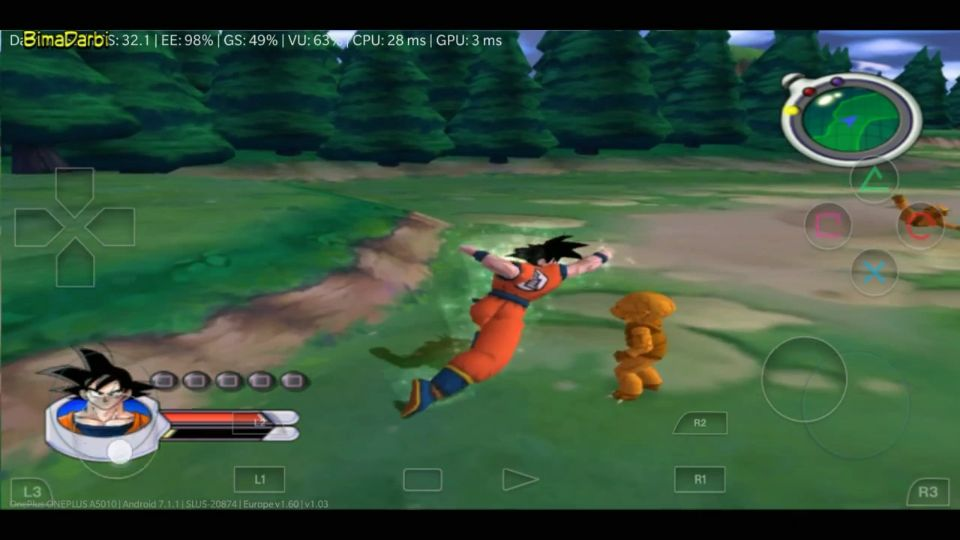 (PS2 Android) DragonBall Z: Sagas   DamonPS2 Pro Android #3