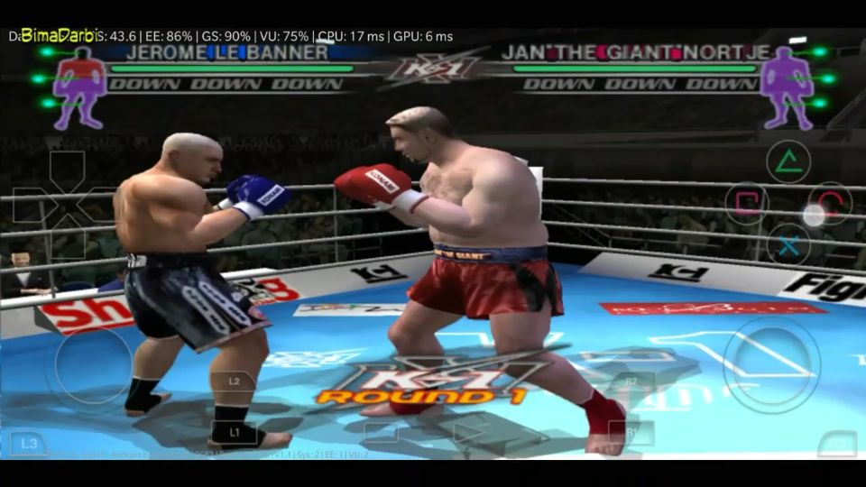 (PS2 Android) K-1 World Grand Prix | DamonPS2 Pro Android #3
