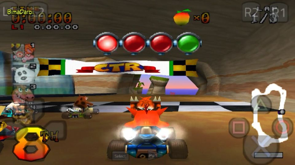 PS1 Android) Crash Team Racing | ePSXe Android | HD Graphics For Android