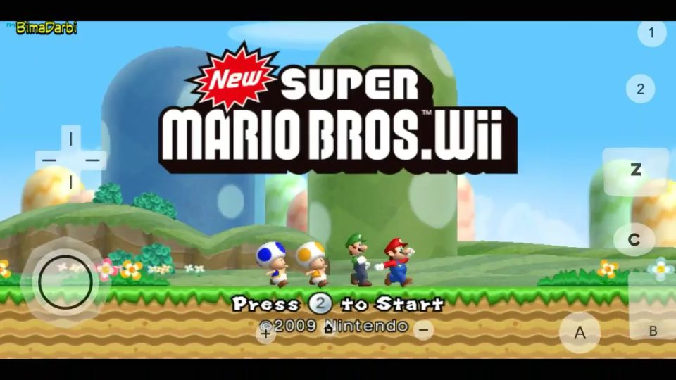 Wii Android) New Super Mario Bros  Wii | Dolphin Emulator Android