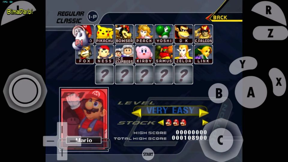 GameCube Android) Super Smash Bros  Mele | Dolphin Emulator