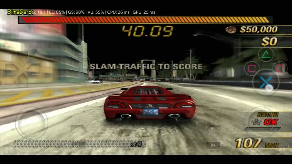 (PS2 Android) Burnout 3 Takedown | DamonPS2 Pro Android #1