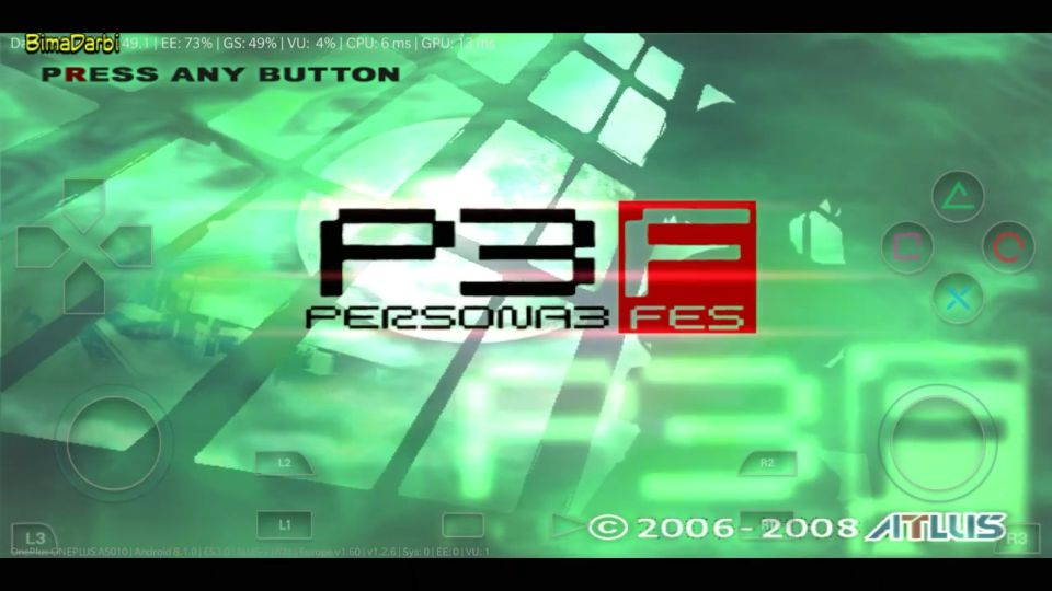 PS2 Android) Shin Megami Tensei Persona 3 FES | DamonPS2 Pro Android