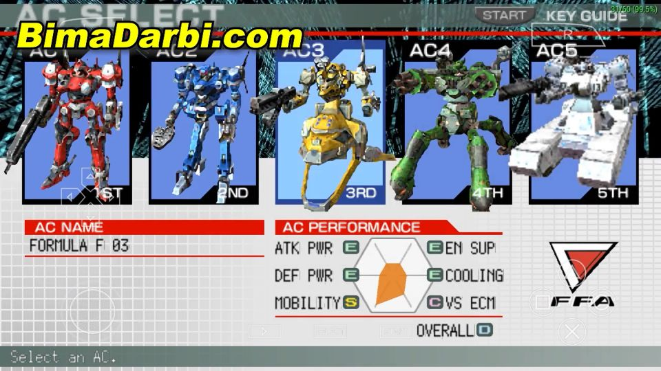 (PSP Android) Armored Core: Formula Front | PPSSPP Android #2